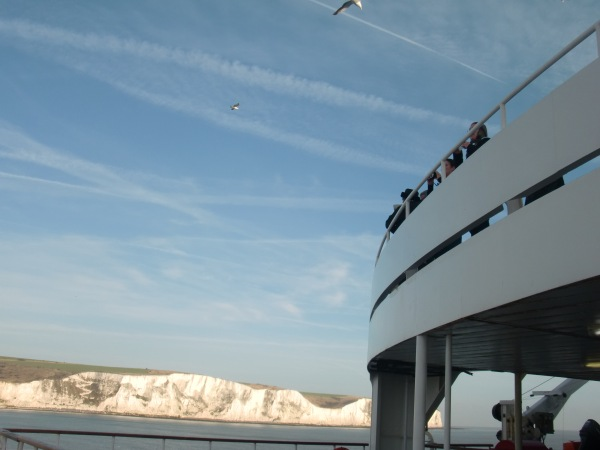 White Cliffs of Dover From the Rear Ferry Deck