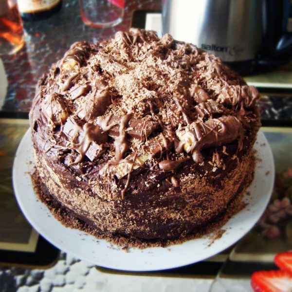 Look at all that chocolate-y goodness!