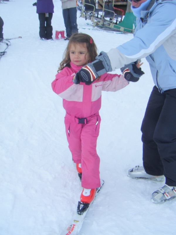 Scarlett the future world-champion skier!