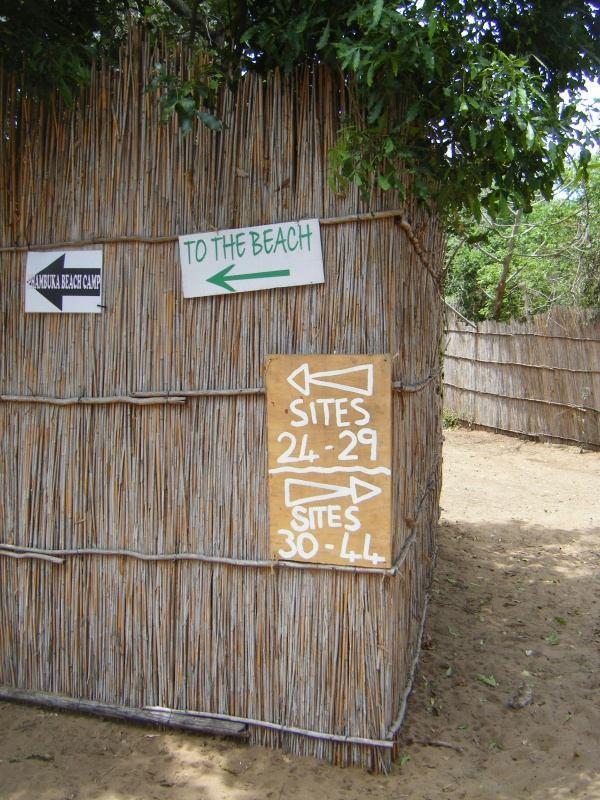 The way to the burning beach