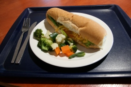 Wednesday: CHEESE SALAD ROLL, SAUTE POTATOES (Fast Food Vegetarian)