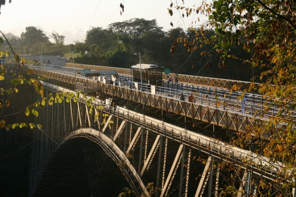 Victoria Falls Bridge was the final stop for our sunset tram ride
