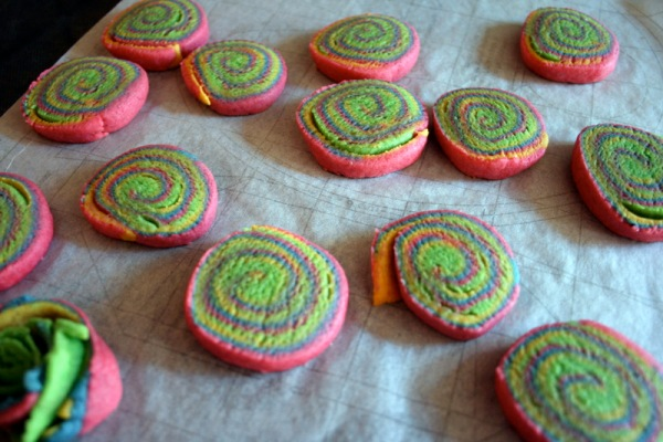 The baked spiral cookies still look pretty exciting