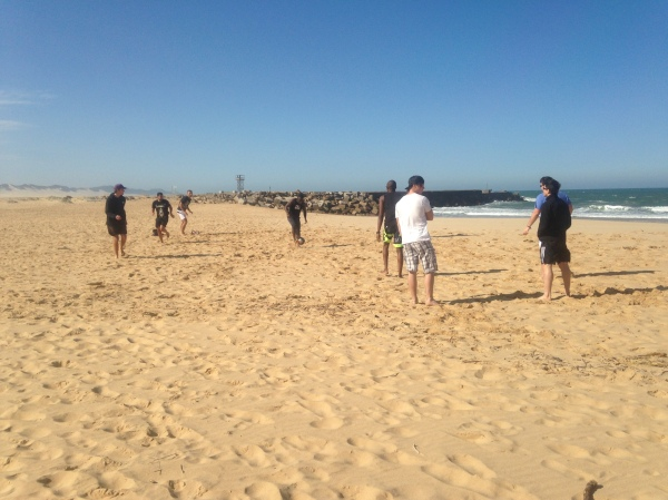 Beach soccer in Port Alfred