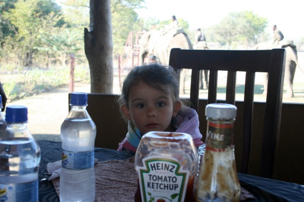 Waiting for breakfast, which was accompanied by Mazoe, a popular juice concentrate