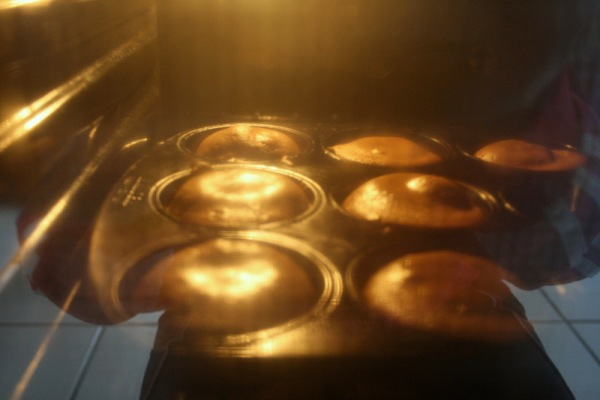 They rise in quite an interesting way as well. Keep an eye on them so they don't burn, and make sure your pan is well-prepared for all that melted chocolate