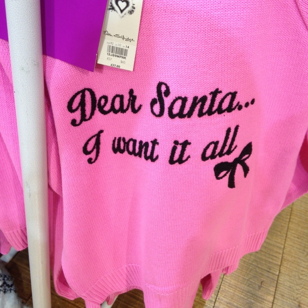 """Dear Santa... I want it all."" So true of my shopping explorations. So many wonderful things!"