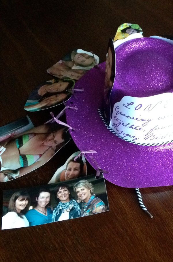 One of mom's friends went to the effort of making a personalised fun hat