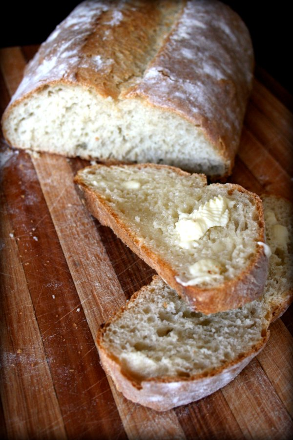 Perfect buttered bread