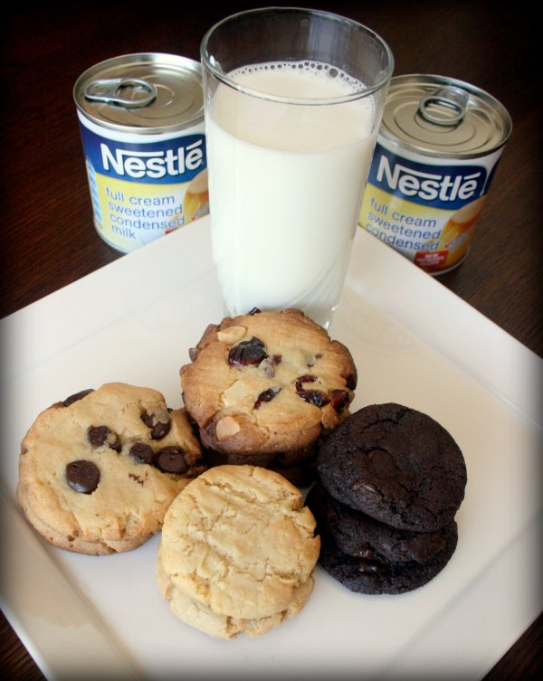 Condensed milk cookies with milk and condensed milk