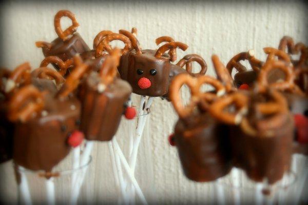 Marshmallow reindeer