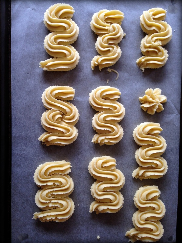 Pre-baked whirls