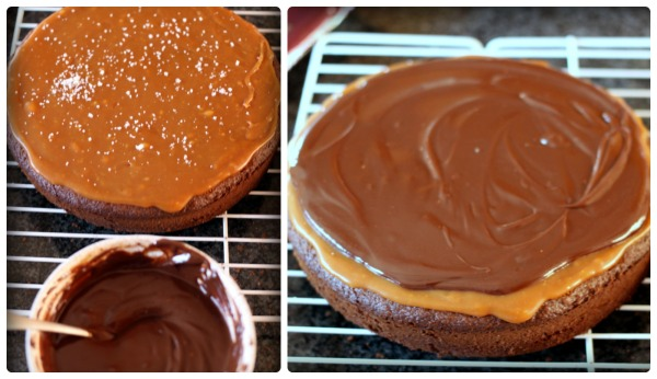 caramel ganache layer